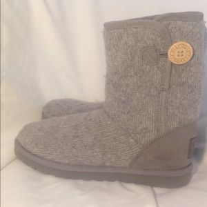 Ugg Boots Grey Knit
